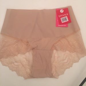 Spanx briefs with lace trim